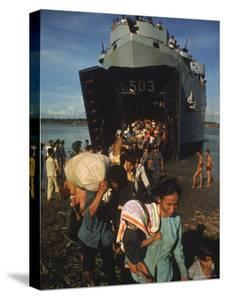 Vietnamese Refugees Arriving From Cambodia by Larry Burrows