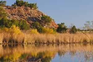 Copper Breaks State Park in Autumn at Quanah, Texas, USA by Larry Ditto