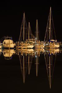 Pleasure Boats in Fulton Harbor by Larry Ditto