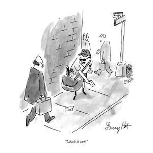 """""""Check it out!"""" - New Yorker Cartoon by Larry Hat"""