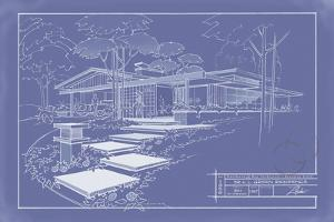 301 Cypress Dr. Blueprint - Inverse by Larry Hunter