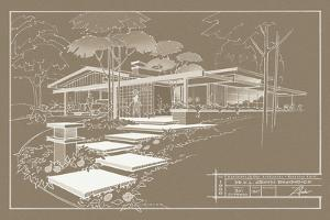 301 Cypress Dr. Sepia - Inverse by Larry Hunter
