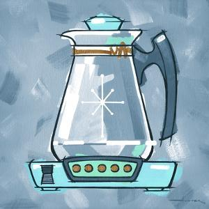 Blue On Blue Coffee Pot by Larry Hunter