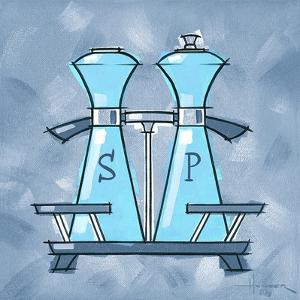 Blue On Blue Salt And Pepper by Larry Hunter