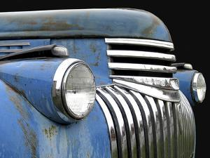 Chevy Grill Blue by Larry Hunter