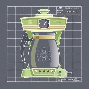 Galaxy Coffeemaid - Lime by Larry Hunter