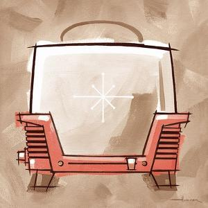 Toaster coral & brown by Larry Hunter