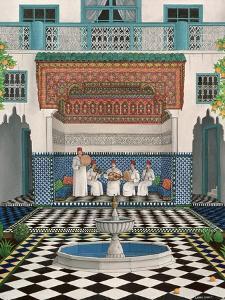 A Riad in Marrakech, 1992 by Larry Smart