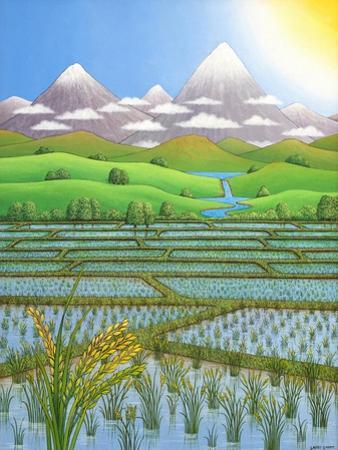 Japan Rice Paddy Field, 1997 by Larry Smart