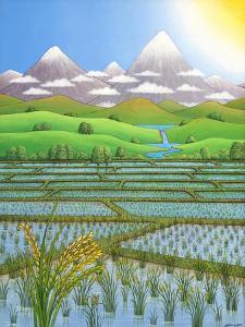 Japan Rice Paddy Field, 1997 by Larry Smart