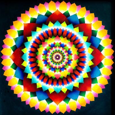 Psychedelic Mandala, 1969 by Larry Smart