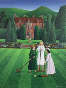 The Croquet Match, 1986 by Larry Smart