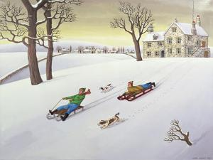 Tobogganing, 1986 by Larry Smart