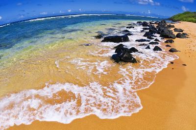 Larsen's Beach, North Shore, Island of Kauai, Hawaii-Russ Bishop-Photographic Print