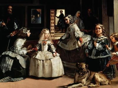 Las Meninas (The Maids of Honor) - detail, 1656-Diego Velazquez-Giclee Print