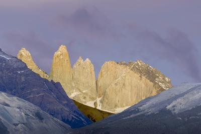 Las Torres before Sunrise. Torres Del Paine NP. Chile-Tom Norring-Photographic Print