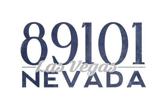 Las Vegas, Nevada - 89101 Zip Code (Blue)-Lantern Press-Art Print