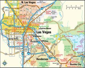 Beautiful Maps of Las Vegas, NV artwork for sale, Posters and Prints ...