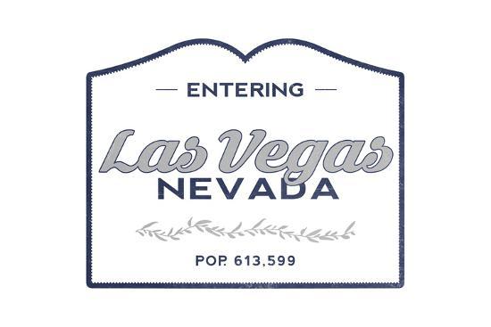 Las Vegas, Nevada - Now Entering (Blue)-Lantern Press-Art Print