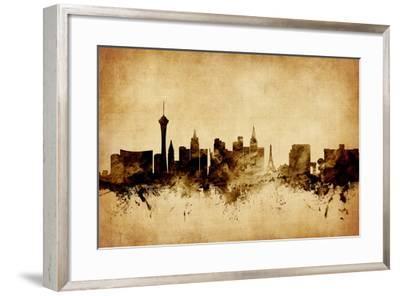Las Vegas Nevada Skyline-Michael Tompsett-Framed Art Print