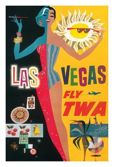 Las Vegas, Nevada - Trans World Airlines Fly TWA, 1958--Giclee Print