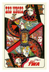 Las Vegas, Nevada - Trans World Airlines Fly TWA - Queen Playing Card