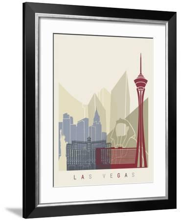 Las Vegas Skyline Poster-paulrommer-Framed Art Print