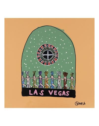 Las Vegas Snow Globe-Brian Nash-Art Print