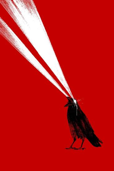 Laser Crow-Robert Farkas-Giclee Print