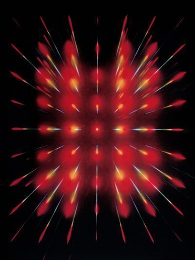 Laser Light Beamed Through An Interferometer--Photographic Print