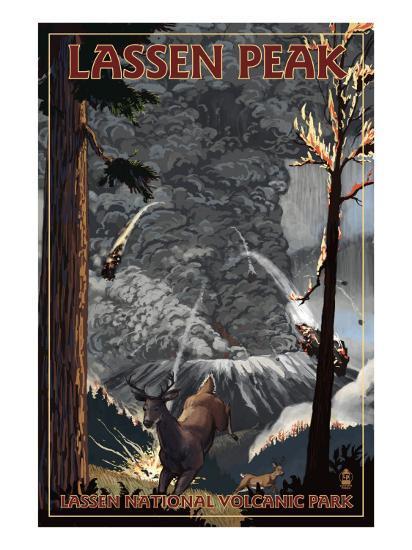 Lassen Peak, California - Ancient Eruption-Lantern Press-Art Print