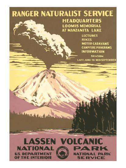 Lassen Volcanic National Park Travel Poster--Art Print