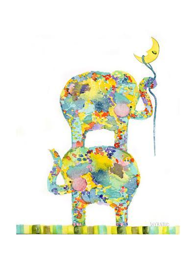 Lasso the Moon Elephants-Wyanne-Giclee Print