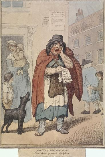 Last Dying Speech and Confession, Plate III of Cries of London, 1799-H Merke-Giclee Print