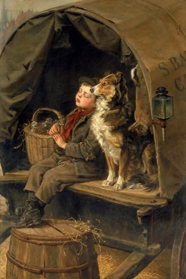 Last in Market or the Carrier's Cart-Ralph Hedley-Giclee Print