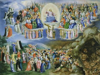 Last Judgement, Copy of Version by Fra Angelico (1387-1455)-Bartholomaeus Spranger-Giclee Print