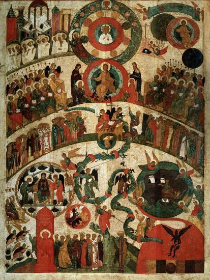Last Judgement, Novgorod Icon-Russian School-Giclee Print