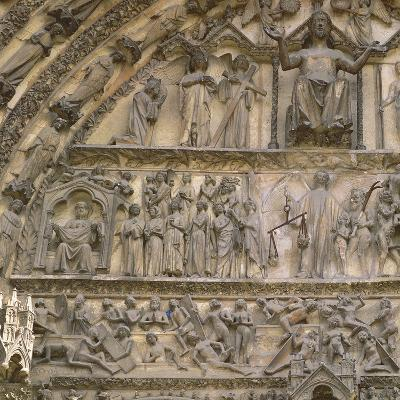 Last Judgement, Tympanum of the Central Portal of West Facade--Giclee Print