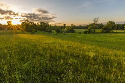Last Light in a Hay Field in Epping, New Hampshire-Jerry and Marcy Monkman-Photographic Print