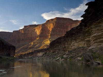 Last Light on Conquistador Aisle, on the Colorado River, Grand Canyon-Ralph Lee Hopkins-Photographic Print