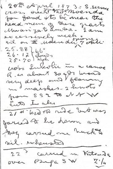 Last Lines Written by Dr. David Livingstone, Illustration from 'The World in the Hands',…-David Livingstone-Giclee Print