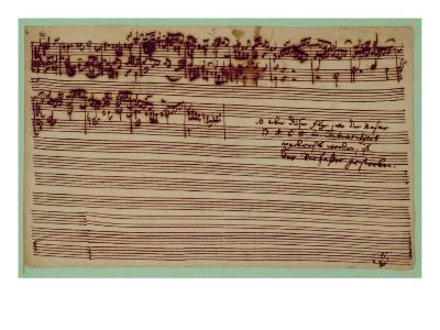 Last Page of the Art of Fugue, 1740S-Johann Sebastian Bach-Giclee Print