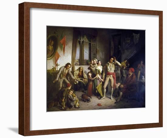Last Prize in Boat Race, 1858-Antonio Rotta-Framed Giclee Print