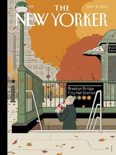 Last Straw - The New Yorker Cover, November 18, 2013-Adrian Tomine-Premium Giclee Print
