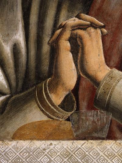 Last Supper Detail of Bread and Wine by Hands of Apostle Bartholomew, Fresco C.1444-50-Andrea Del Castagno-Giclee Print