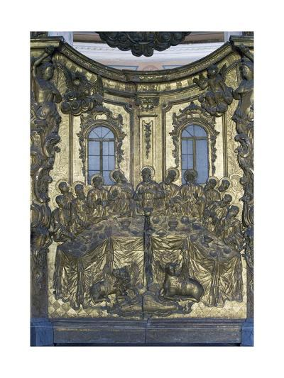 Last Supper, Wooden Bas-Relief, Cathedral of Dormition or Uspensky Sobor--Giclee Print