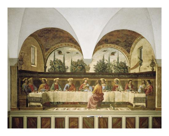 Last Supper-Domenico Ghirlandaio-Art Print