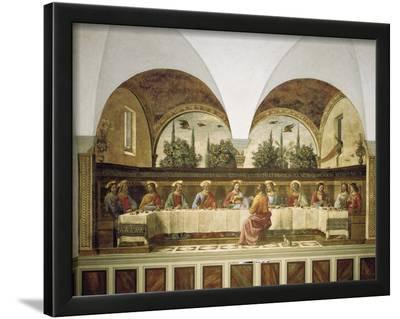 Last Supper-Domenico Ghirlandaio-Lamina Framed Art Print