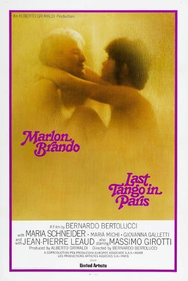 Last Tango in Paris, Marlon Brando, Maria Schneider, US poster, 1972--Art Print