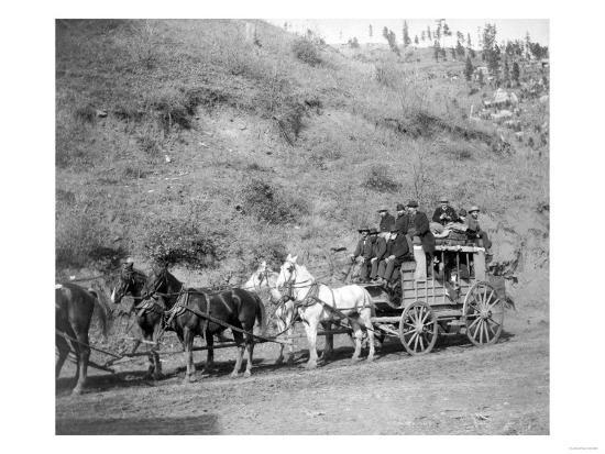 "Last Trip of the ""Deadwood Coach"" Photograph - Black Hills, SD-Lantern Press-Art Print"